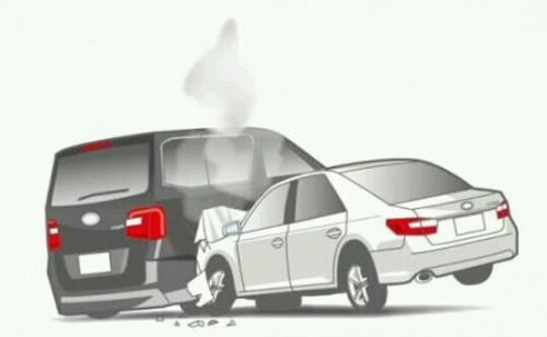 他人の車にぶつかる