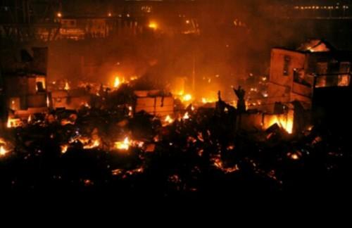 街が火事の夢
