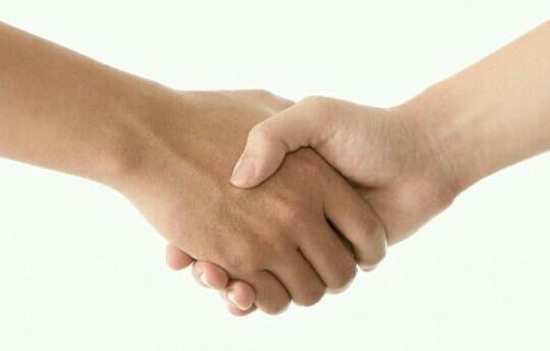 握手する夢