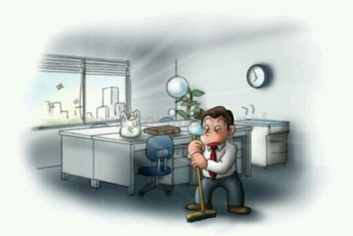 会社を掃除する夢