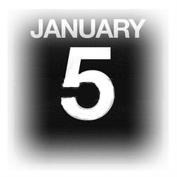 15633087-イラストを使用カウンター-カレンダー-1-月-5-日
