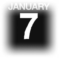 15633080-イラストを使用カウンター-カレンダー-1-月-7-日