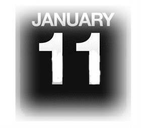 15633083-イラストを使用カウンター-カレンダー-1-月-11-日