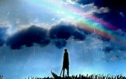 雨上がりの虹の夢