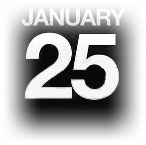 1月25日
