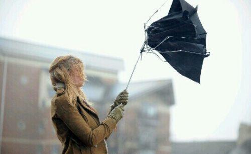 傘が裏返しになる夢