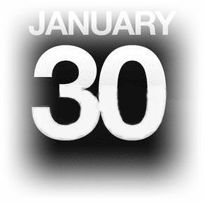 1月30日