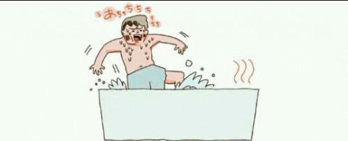 お風呂のお湯が熱い夢