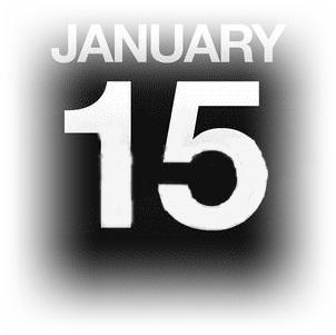 15633096-カウンター-カレンダー-イラスト-1-月-15-日