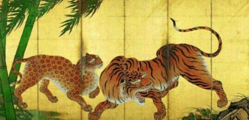 虎の掛け軸の夢